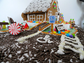 Accessible gingerbread house